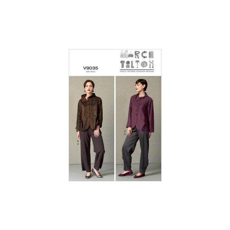 Vogue Patrones V9035 Misses Chaqueta Y Pantalones Plantilla ...