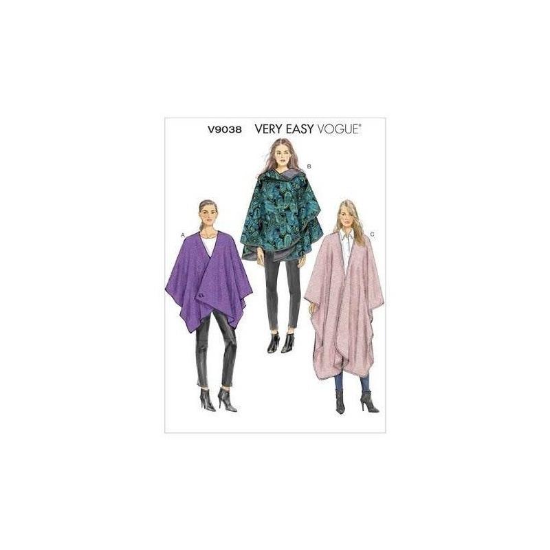 Vogue Patrones V9038 Misses Cape Coser Plantilla, Tamaño Y ...