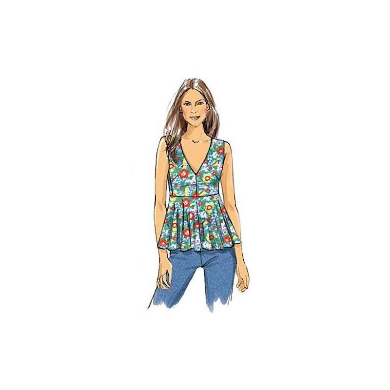 Vogue Patrones V9056 Falta La Plantilla De Costura Superior ...