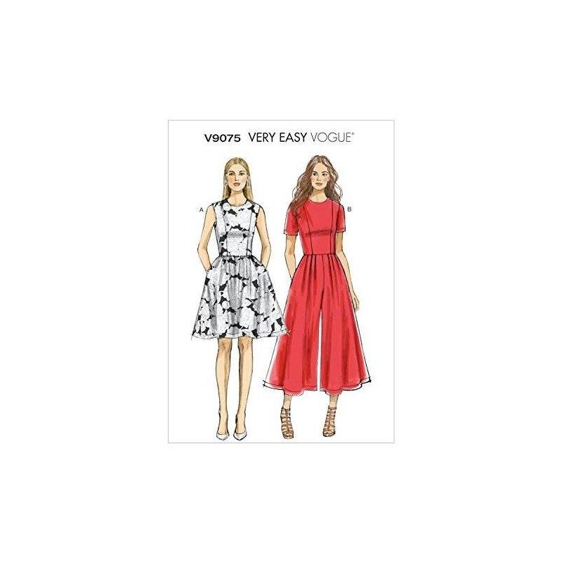 Vogue Patrones V9075a50 Misses / Misses Vestido Petite Y Pla ...