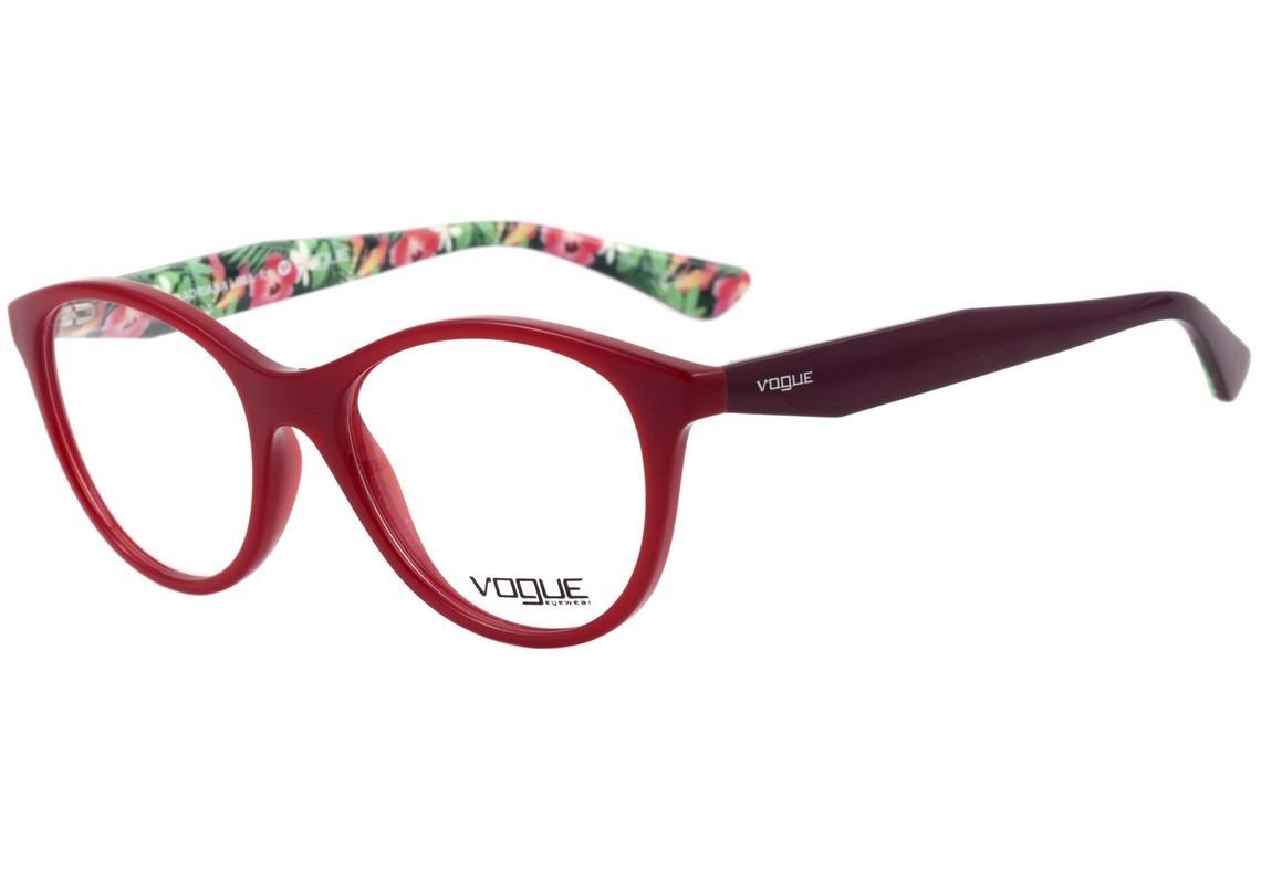 e31a28056792f vogue vo 2988l adriana lima - óculos de grau 2340 vermelho. Carregando zoom.