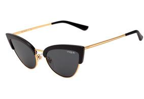 865bf40db Óculos Vogue Dourado Modelo Vo 2524 S De Sol - Óculos De Sol no ...