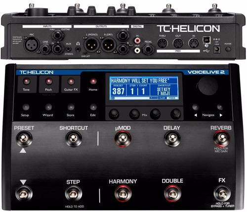 voice live 2 de tc helicon- harmonizador de voces-fx-pedaler