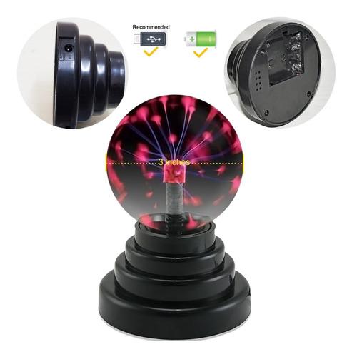 voilio plasma globo de la bola usb y con pilas de la decorac