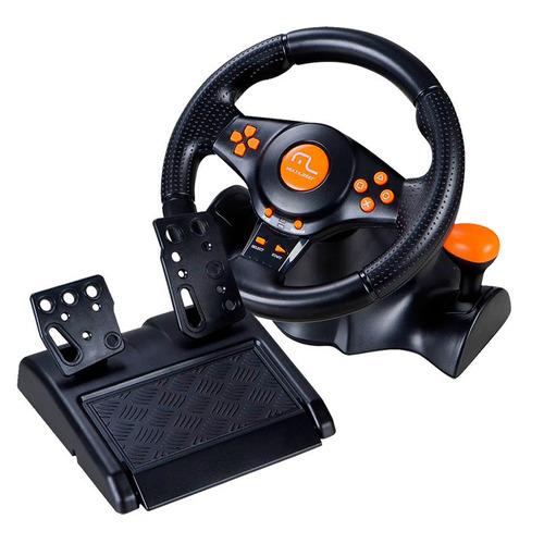 volante c/ pedal multilaser  3 em 1 - ps2, ps3 e pc sem fio