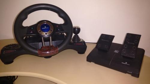 volante con pedalera ps2- pc (con sensores)