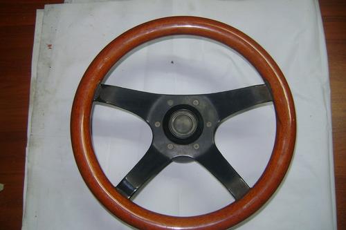 volante de madera con adaptador, para mustang 79-84