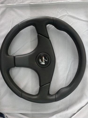volante deportivo de vinil tipo momo