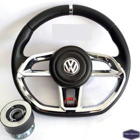 Volante Deportivo Gti Cromado Fusca Gol Linea Volkswagen