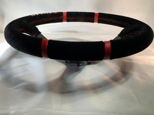 volante deportivo racing nismo gamuza negro n30