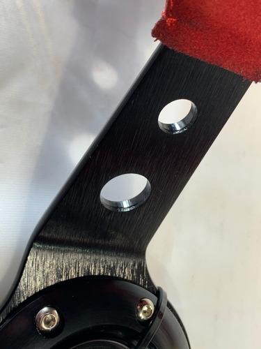 volante deportivo tuning curvo gamuza rojo calidad g456
