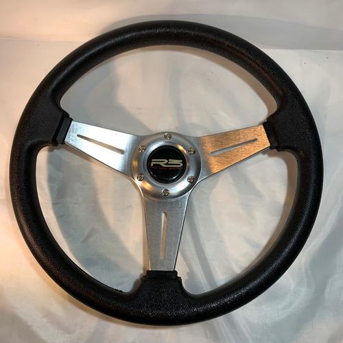 volante deportivo tuning plateado  + masa extraible r104-4