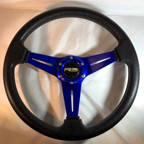 volante deportivo tuning racing rojo + masa extraible r101-6