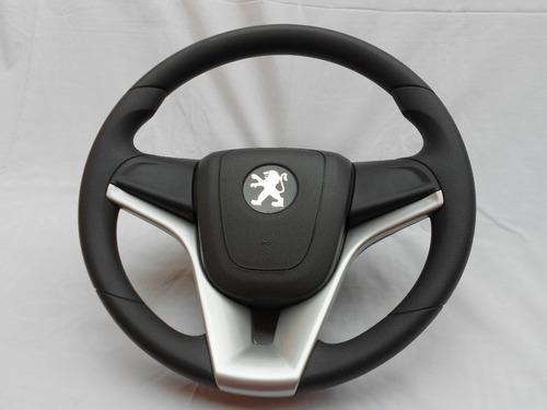volante esportivo com cubo para peugeot 207 passion prata