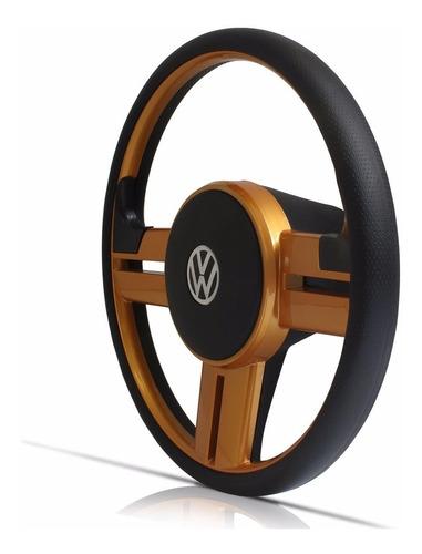 volante esportivo rallye surf dourado fusca até 76 c/ cubo