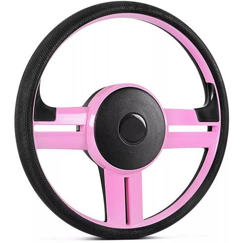 volante esportivo rallye surf rosa + cubo p/ gol g2,g3,g4