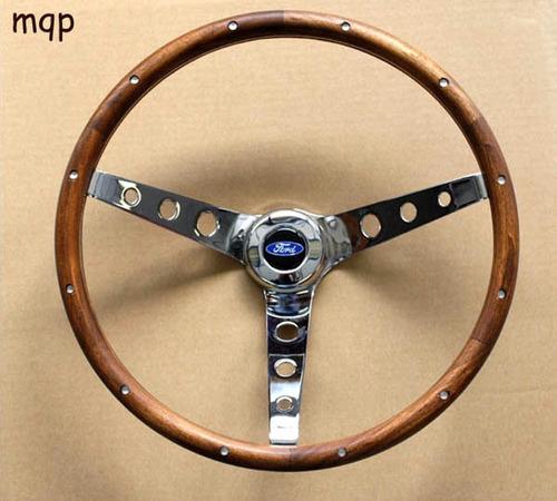 volante ford falcon f150 f250 thunterbird de madera