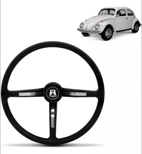 volante fusca/brasília/variant preto e cromado- cubo até 76