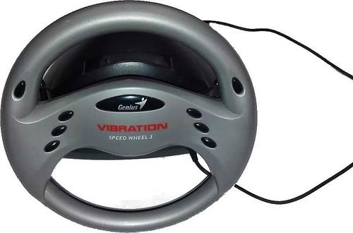 volante genius speed wheel 3 vibration usb wheel. u s a d o
