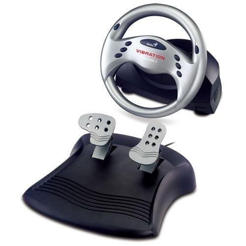 volante genius speed wheel 3 vibration usb wheel (usado)