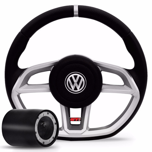 volante golf gti gol parati saveiro g2 g3 g4 prata vision