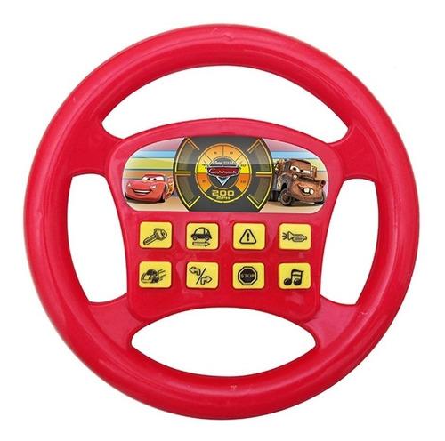 volante infantil carros disney pixar brinquedo musical