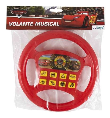 volante infantil musical carros disney pixar 18,5cm