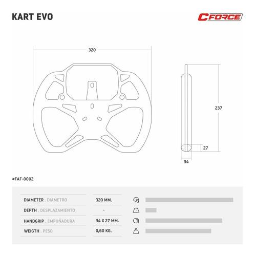 volante karting c-force kart evo soporte mychron 4 5 collino