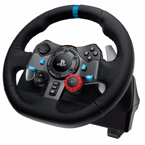 volante logitech g29 driving force para ps3/ps4/pc novo