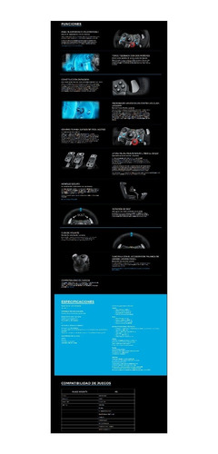volante logitech g29 + pedalera pc ps3 ps4 profesional htg