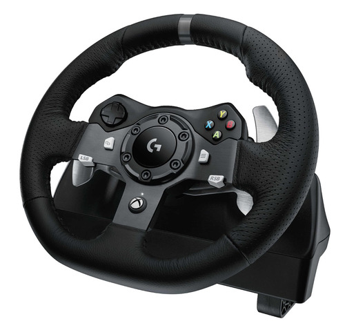 volante logitech g920 driving force xbox one r em mercado livre. Black Bedroom Furniture Sets. Home Design Ideas