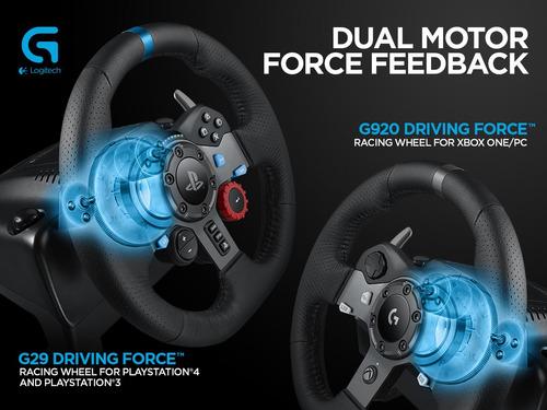 volante logitech g920 + pedalera pc driving force g29 g27