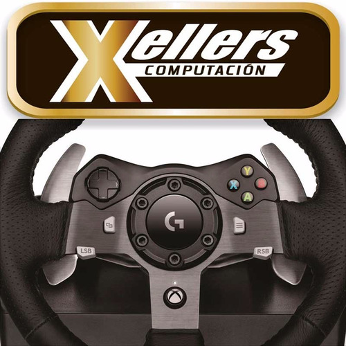 volante logitech g920 pedalera xbox one pc prof  xellers