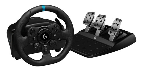 volante logitech g923 gamer + pedalera racing ps4 pc oficial