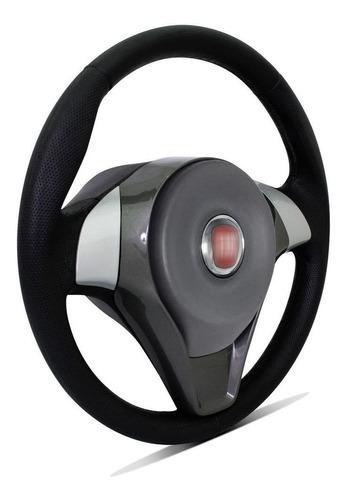 volante modelo original fiat strada 1998 a 2013 preto/prata