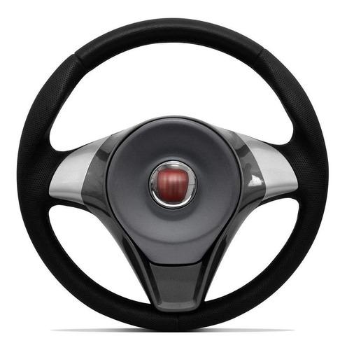volante modelo original preto/prata fiat doblò 2001 a 2013