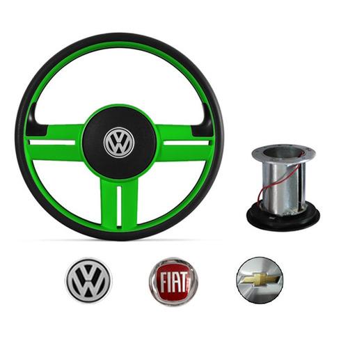 volante modelo rallye verde volkswagen chevrolet fiat