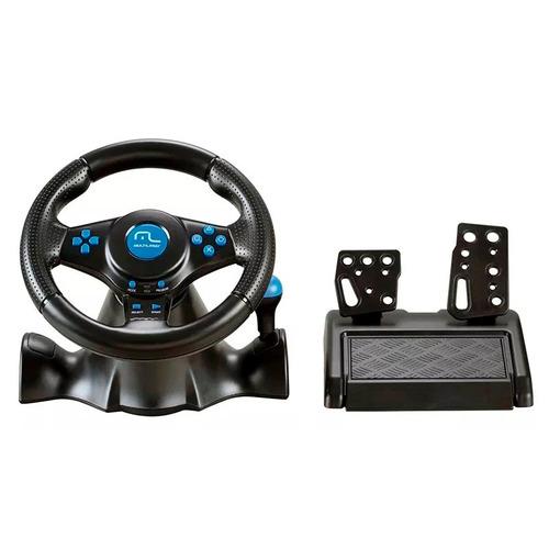 volante multilaser joystick câmbio pedal js073 ps2 ps3 pc
