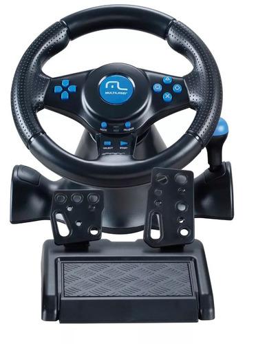 volante multilaser p/ ps2,ps3 e pc - simulador c/cambio dual