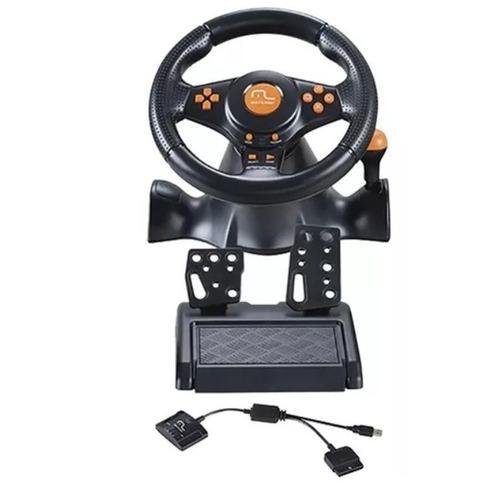 volante multilaser sem fio câmbio pedal js074 ps2 ps3 pc loi