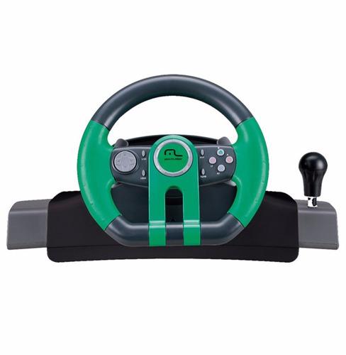 volante p xbox one pc computador com cambio pedal multilaser