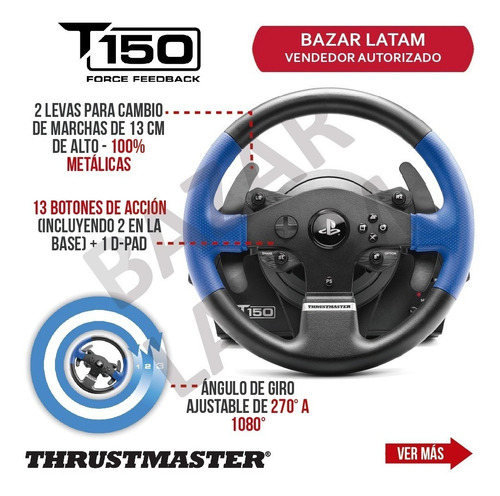 volante pedales x2 thrustmaster t150 rs pc ps4 ps3