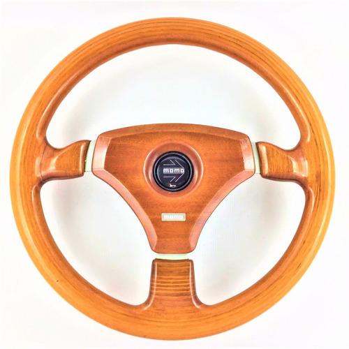 volante porsche-fusca-karman guia-inteiro de madeira nobre