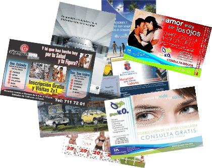 volante publicitario media carta couche135gr flyer, boletos