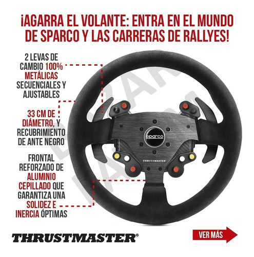 volante sparco add on thrustmaster pc ps4 xbox