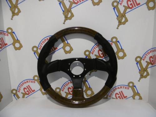 volante tuning sin massa - marca oba - madera - vt0012