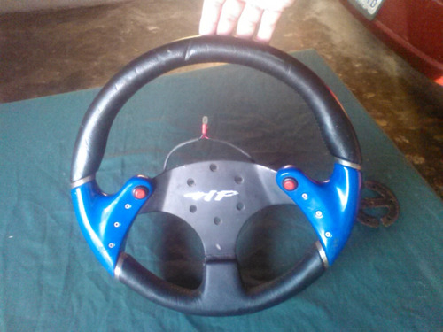 volante tunning hp, usado, con adaptador