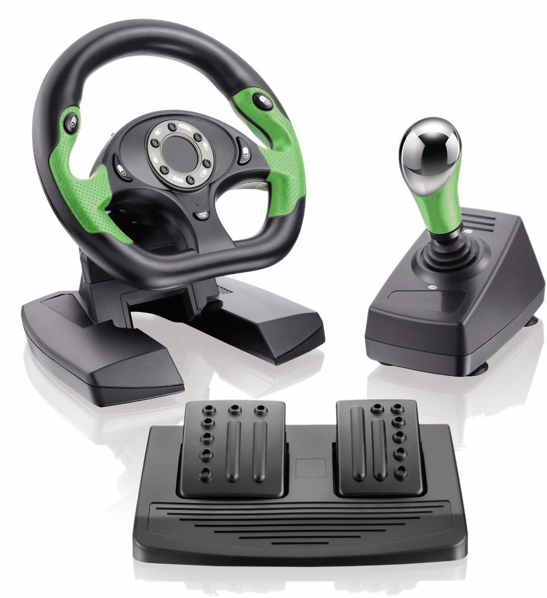 Volante xbox pc dual shock com pedal e cambio r