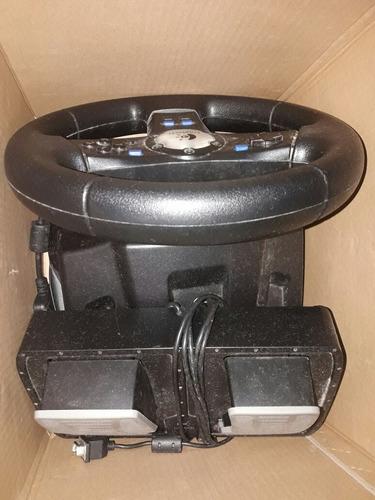volante y pedalera ps2 rally  vibration feedback logitech