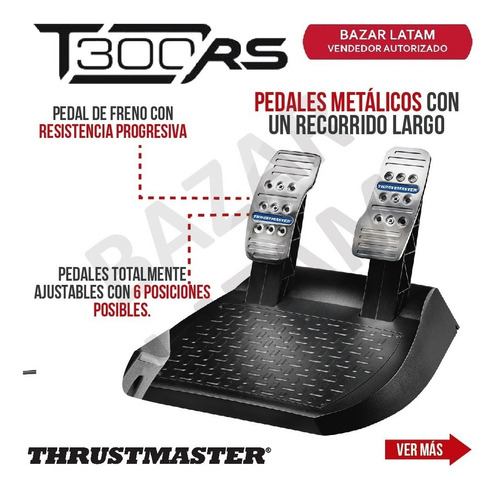 volante y pedales x2 thrustmaster t300 rs pc ps4 ps3